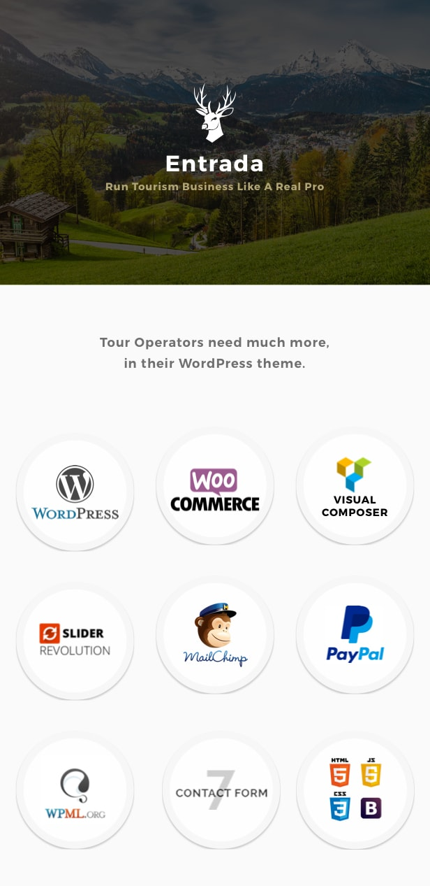 Tour Booking - Tour Adventure WordPress Theme - Entrada - 1