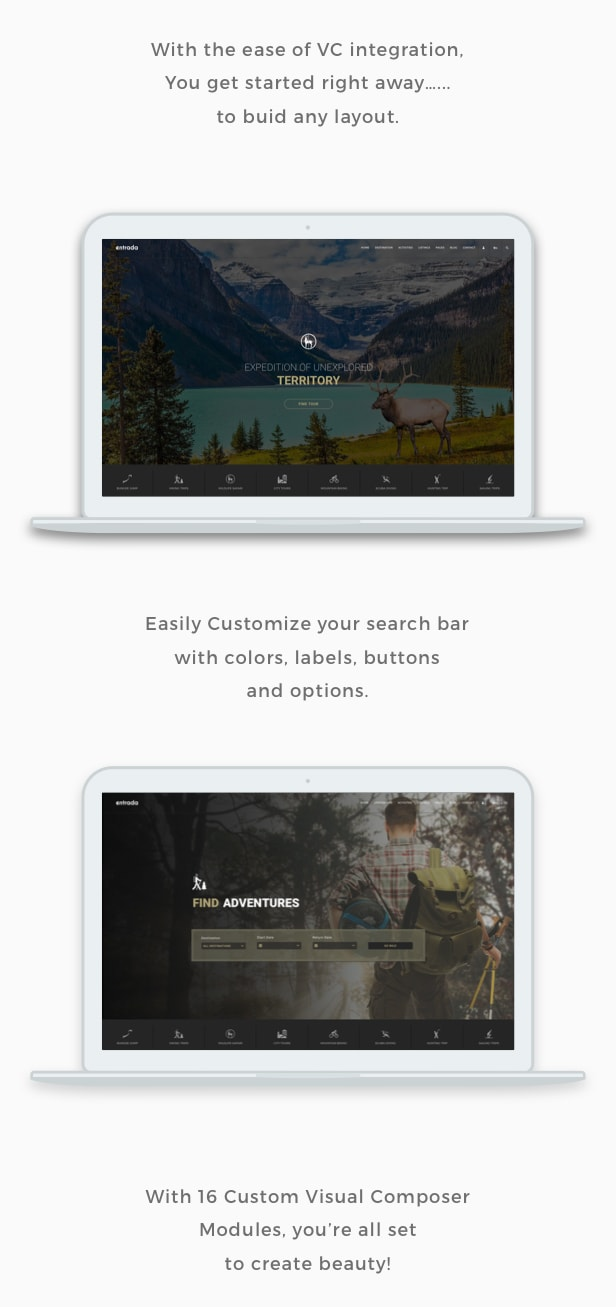 Tour Booking - Tour Adventure WordPress Theme - Entrada - 2