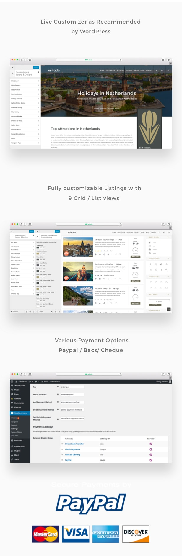 Tour Booking - Tour Adventure WordPress Theme - Entrada - 4