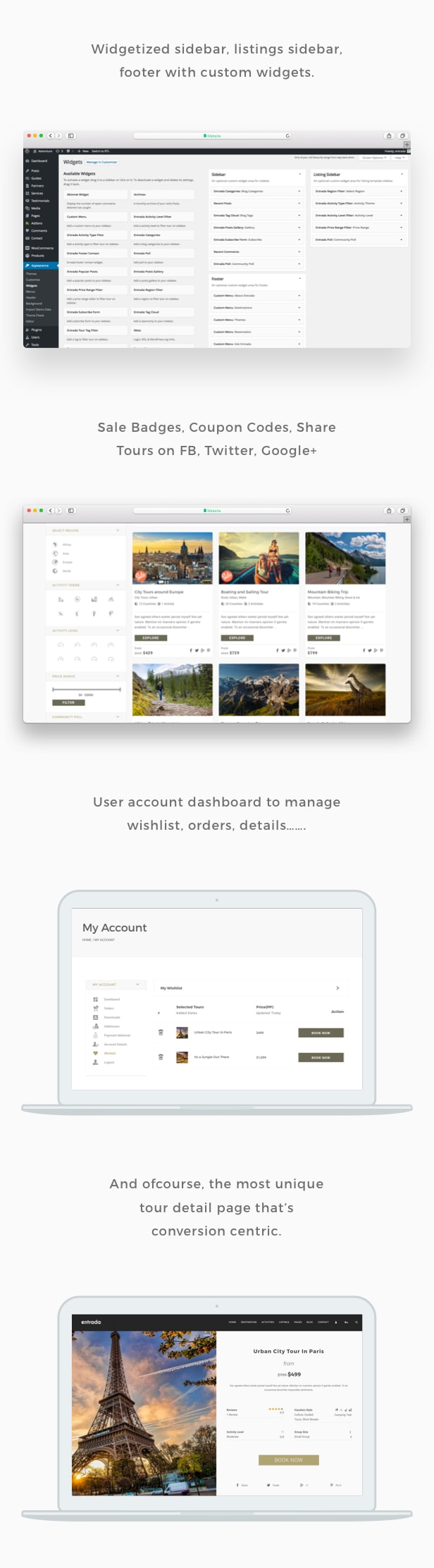 Tour Booking - Tour Adventure WordPress Theme - Entrada - 5